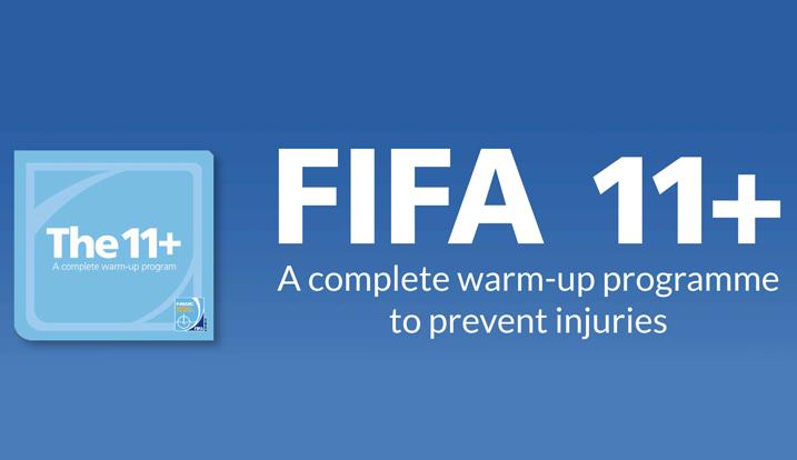 FIFA 11+ minskar risken för skador inom fotboll