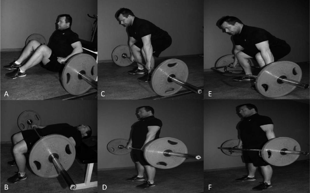 Marklyft, hip thrust och marklyft med trap bar