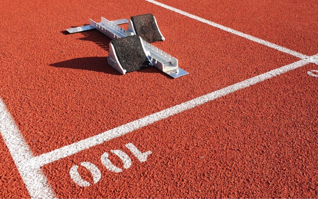 startblock 100m sprint